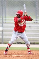April 14, 2009:  Hector Alvarez of the St. Louis Cardinals extended spring training team during a game at Roger Dean Stadium Training Complex in Jupiter, FL.  Photo by:  Mike Janes/Four Seam Images
