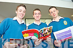 Declan McCrothan, Joseph Roche and Patrick Nolan from Mercy Mounthawk, Tralee pictured at the IT Tralee open day on Friday.