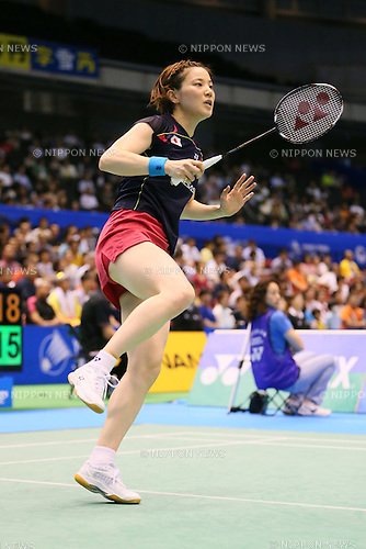 Miyuki Maeda (JPN), June 13, 2014 - Badminton : Yonex Open Japan 2014 Women's Doubles at Tokyo Metropolitan Gymnasium, Tokyo, Japan. (Photo by Yohei Osada/AFLO SPORT) [1156]