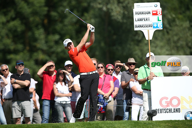 James Morrison (ENG) plays to the 12th during Round Two of the 2015 BMW International Open at Golfclub Munchen Eichenried, Eichenried, Munich, Germany. 26/06/2015. Picture David Lloyd | www.golffile.ie