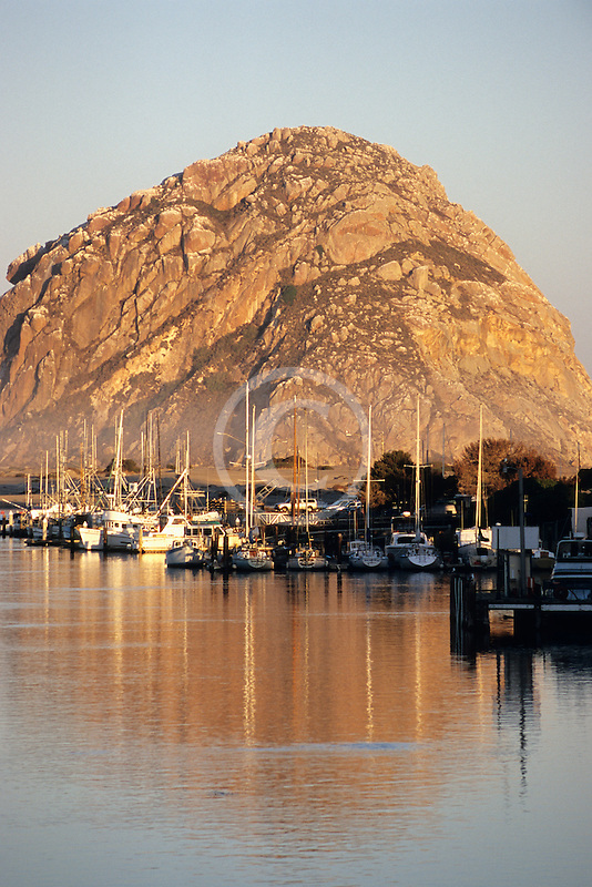 California, Morro Bay, Morro Rock and Harbor