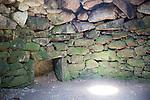 Inside underground fogue chamber, Carn Euny prehistoric village, Cornwall, England, UK