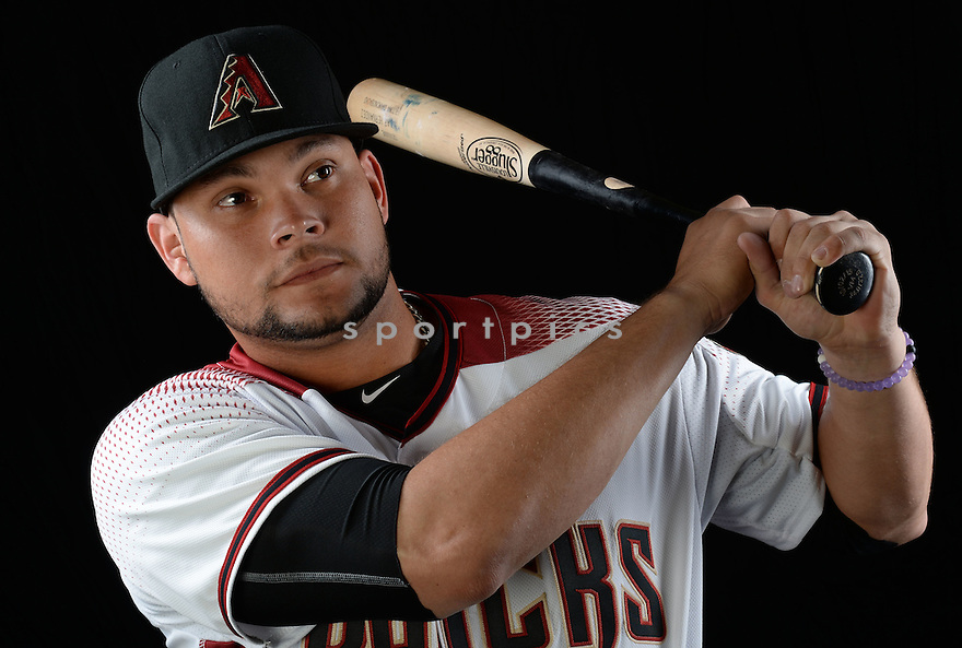 Arizona Diamondbacks Oscar Hernandez (28) during photo day on February 28, 2016 in Scottsdale, AZ.
