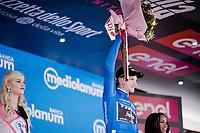 Giulio Ciccone (ITA/Trek-Segafredo) in the Maglia Azzurra / KOM leader<br /> <br /> Stage 6: Cassino to San Giovanni Rotondo (233km)<br /> 102nd Giro d'Italia 2019<br /> <br /> ©kramon