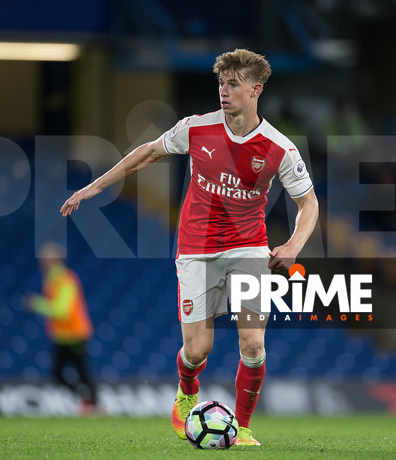 Ben Sheaf of Arsenal in action during the EPL2 - U23 - Premier League 2 match between Chelsea and Arsenal at Stamford Bridge, London, England on 23 September 2016. Photo by Andy Rowland.