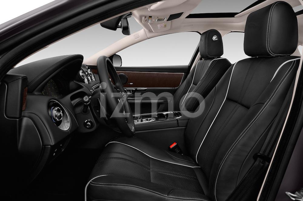 Front seat view of 2016 Jaguar XJ Premium Luxury 4 Door Sedan Front Seat  car photos