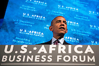United States President Barack Obama speaks at the U.S.-Africa Business Forum at the Plaza Hotel, September 21, 2016 in New York City. The forum is focused on trade and investment opportunities on the African continent for African heads of government and American business leaders. Photo Credit: Drew Angerer/CNP/AdMedia