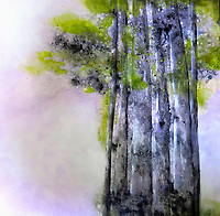 Painting of group of trees
