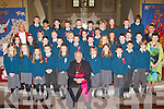 Pupils from Nagle/Rice NS Milltown who was confirmed in the Secret Heart church Milltown on Tuesday with Bishop Bill Murphy, Fr Pat O'Donnell, and teachers John O'Sullivan and Joan Cashman