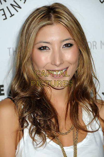 "DICHEN LACHMAN .The 26th Annual William S. Paley Television Festival presents ""Dollhouse"" held at Arclight Cinemas. .Hollywood, CA, USA, .15th April 2009..portrait headshot gold necklace white .CAP/ADM/BP.©Byron Purvis/Admedia/Capital Pictures"