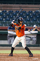 AZL Giants center fielder Heliot Ramos (31) at bat against the AZL Padres 2 on July 13, 2017 at Scottsdale Stadium in Scottsdale, Arizona. AZL Giants defeated the AZL Padres 2 11-3. (Zachary Lucy/Four Seam Images)