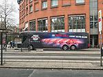 14.04.2018, Swiss&ocirc;tel Bremen, Bremen, GER, 1.FBL, Mannschaftsbus RB Leipzig in Bremen<br /><br />im Bild<br />Mannschaftsbus von RB Leibzig vor dem Teamhotel in Bremer Innenstadt, <br /><br />Foto &copy; nordphoto / Ewert