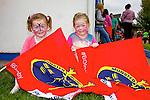 Sarah Greaney and Megan Burearo supporting Munster at the Munster ladies V Connacht Interprovincial  at Tralee Rugby Club on Saturday