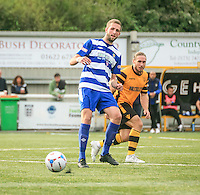 Luke Pennell of Dunstable Town dubbed the next Jamie Vardy and has been on trail at  Fleetwood Town and Burnley with Norwich City also reported interested in signing him from Dunstable Town FC. Photo by Chris White / PRiME Media Images