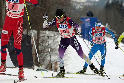 04.01.2012.  Val Di Fiemme, Italy. Taihei KATO (JAP) in action during the Nordic Combined World Cup - Val di Fiemme - LH Team Sprint