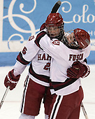 Haley Mullins (Harvard - 26), Bradley Fusco (Harvard - 9) - The Harvard University Crimson tied the Boston University Terriers 6-6 on Monday, February 7, 2017, in the Beanpot consolation game at Matthews Arena in Boston, Massachusetts.
