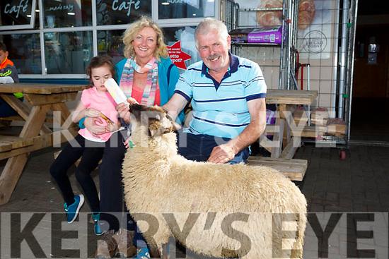 Enjoying the CAMP Sheep FAIR on Monday were niamh ni Mhara and Kathleen Mulcahy with Jake Crean and Paddy the lamb