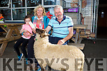 Enjoying the CAMP Sheep FAIR on Monday were niamh ni Mhara and Kathleen Mulcahy with Jake Crean and Paddy the lamb