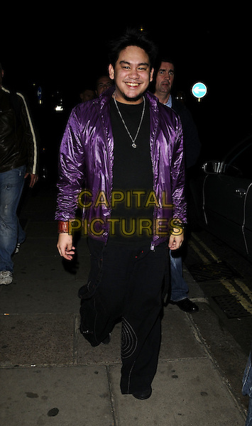 PRINCE AZIM OF BRUNEI.Spotted at Nobu Park Lane restaurant, London, England..March 20th, 2008.full length shiny purple jacket black top trousers .CAP/CAN.©Can Nguyen/Capital Pictures.