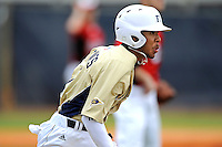 4 March 2012:  FIU shortstop Julius Gaines (2) runs to first base as the FIU Golden Panthers defeated the Brown University Bears, 8-3, at University Park Stadium in Miami, Florida.