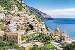 The spectacular coastal town of Positano on the Amalfi Coast in Italy.