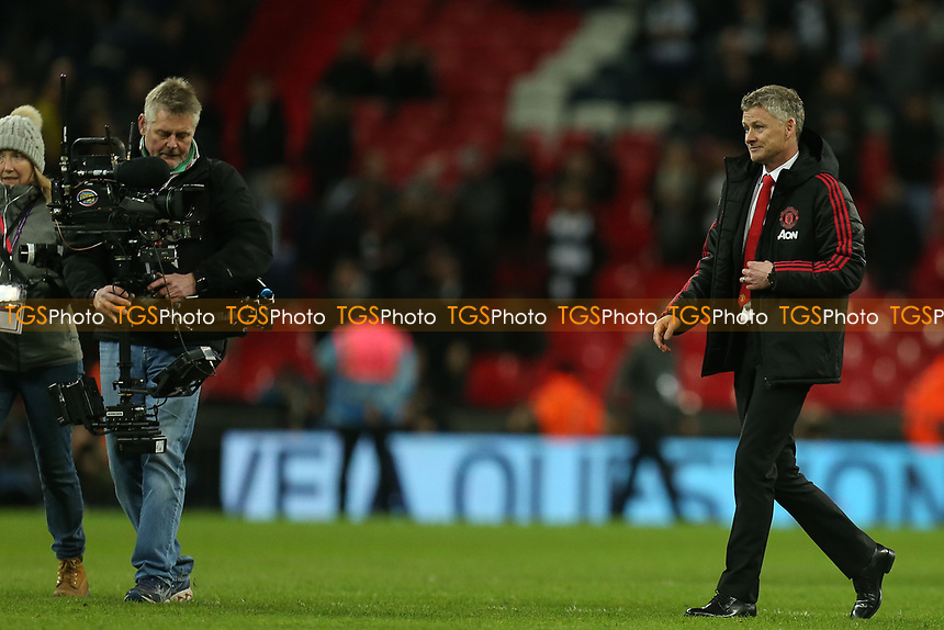 Manchester United manager Ole Gunnar Solskjaer after Tottenham Hotspur vs Manchester United, Premier League Football at Wembley Stadium on 13th January 2019