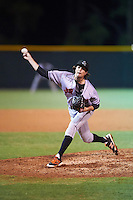 Jupiter Hammerheads relief pitcher Chris Mazza (4) delivers a pitch during a game against the Lakeland Flying Tigers on March 14, 2016 at Henley Field in Lakeland, Florida.  Lakeland defeated Jupiter 5-0.  (Mike Janes/Four Seam Images)