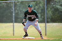Michigan State Spartans first baseman Alex Troop (32) during a game against the Illinois State Redbirds on March 8, 2016 at North Charlotte Regional Park in Port Charlotte, Florida.  Michigan State defeated Illinois State 15-0.  (Mike Janes/Four Seam Images)