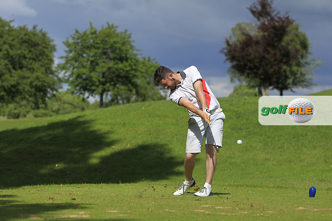 Liam Grehan (Mullingar) on the 10th tee during Round 4 of the 2016 Connacht Strokeplay Championship at Athlone Golf Club on Sunday 12th June 2016.<br /> Picture:  Golffile   Thos Caffrey