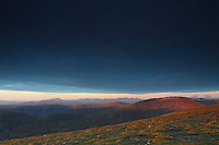 The Southern Highlands at dawn from A'Mharconaich, Monadhliath, Drumochter Pass, Cairngorm National Park, Highlands<br /> <br /> Copyright www.scottishhorizons.co.uk/Keith Fergus 2011 All Rights Reserved