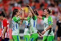 VfL Wolfsburg's Tessa Wullaert, Pernille Harden, Ewa Pajor and Alexandra Popp celebrate goal during UEFA Womens Champions League 2017/2018, 1/16 Final, 1st match. October 4,2017. (ALTERPHOTOS/Acero) /NortePhoto.com /NortePhoto.com