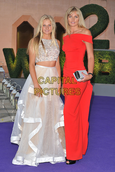Dayana Yastremska &amp; guest at the Wimbledon Champions Dinner, The Guildhall, Gresham Street, London, England, UK, on Sunday 10 July 2016.<br /> CAP/CAN<br /> &copy;CAN/Capital Pictures