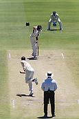 November 5th 2017, WACA Ground, Perth Australia; International cricket tour, Western Australia versus England, day 2; Western Warriors Jake Carder blocks from England player Chris Woakes
