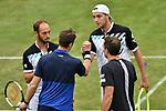 11.06.2019, Tennisclub Weissenhof e. V., Stuttgart, GER, Mercedes Cup 2019, ATP 250, John PEERS (AUS) Bruno SOARES (BRA) [1] vs Tim PUETZ (GER) Jan-Lennard STRUFF (GER) <br /> <br /> im Bild John PEERS (AUS) Bruno SOARES (BRA) [1] vs Tim PUETZ (GER) Jan-Lennard STRUFF (GER) <br /> <br /> Foto © nordphoto/Mauelshagen