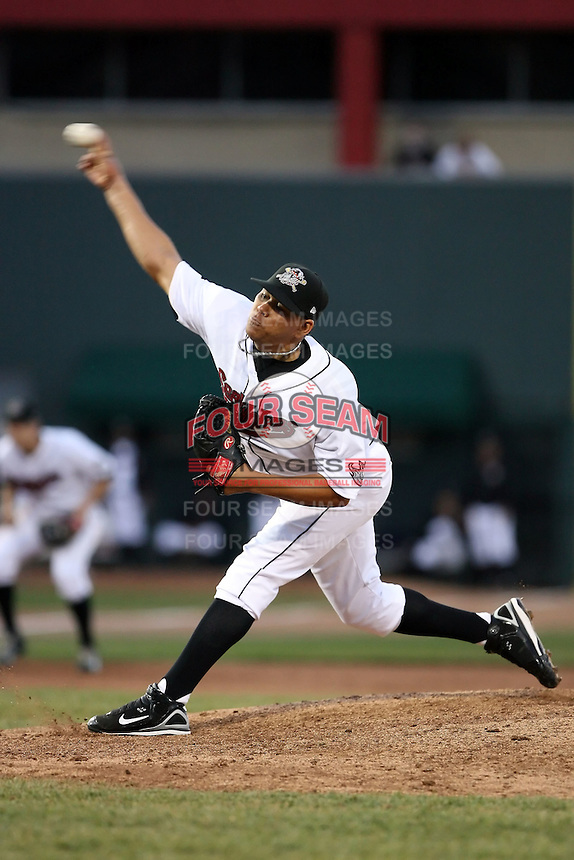 May 29th 2008:  Marcelo Perez of the Erie Seawolves, Class-AA affiliate of the Detroit Tigers, during a game at Jerry Uht Park in Erie, PA.  Photo by:  Mike Janes/Four Seam Images