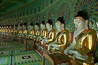 45 buddha images  occupy Umin Thounzeh at Sagaing Hill, Burma