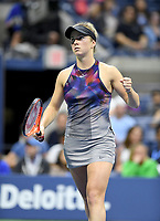 FLUSHING NY- SEPTEMBER 04: ***NO NY DAILIES***  Madison Keys Vs Elina Svitolina: Elina Svitolina reacts during her match against Madison Keys on Arthur Ashe Stadium during the US Open at the USTA Billie Jean King National Tennis Center on September 4, 2017 in Flushing Queens. Credit: mpi04/MediaPunch