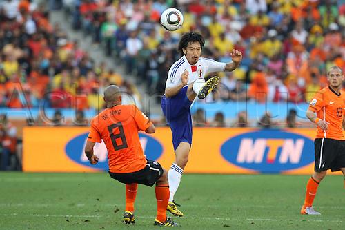 ki Abe (JPN), .JUNE 19, 2010 - Football : .2010 FIFA World Cup South Africa .Group Match -Group E- .between Netherlands 1-0 Japan .at Durban Stadium, Durban, South Africa. .