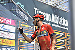 Vincenzo Nibali (ITA) Bahrain-Merida at sign on before the start of Stage 5 of the Race of the Two Seas, the 54th Tirreno-Adriatico 2019, running 180km from Colli al Matauro to Recanati, Italy. 17th March 2019.<br /> Picture: LaPresse/Fabio Ferrari | Cyclefile<br /> <br /> <br /> All photos usage must carry mandatory copyright credit (© Cyclefile | LaPresse/Fabio Ferrari)