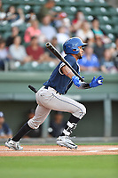 Second baseman Carlos Herrera (2) of the Asheville Tourists in a game against the Greenville Drive on Tuesday, May 2, 2017, at Fluor Field at the West End in Greenville, South Carolina. Asheville won, 7-1. (Tom Priddy/Four Seam Images)