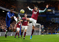 11th January 2020; Stamford Bridge, London, England; English Premier League Football, Chelsea versus Burnley; Matthew Lowton of Burnley challenges Callum Hudson-Odoi of Chelsea - Strictly Editorial Use Only. No use with unauthorized audio, video, data, fixture lists, club/league logos or 'live' services. Online in-match use limited to 120 images, no video emulation. No use in betting, games or single club/league/player publications