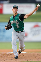 Starting pitcher Madison Bumgarner (5) of the Augusta GreenJackets in action at Fieldcrest Cannon Stadium in Kannapolis, NC, Wednesday August 21, 2008. (Photo by Brian Westerholt / Four Seam Images)