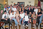 Fun: Soaking up the atmosphere at his 21st birthday in The Greyhound Bar, Tralee, on Saturday evening was Joey OConnor (seated sixth from left) of Monalee House, along with family and friends..