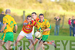 Ronan McAulliffe Gneeveguilla Hugh Curran N'town.Gneeveguilla defeated Newcestown 0-12 to 1-8 in the Munster Intermediate Club Football Semi Final at Gneeveguilla on Sunday.