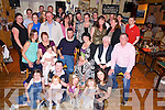 John Hussey, Killarney and Dublin, pictured with some of his family and friends as he celebrated his 30th birthday in Kate Kearneys Cottage, Beaufort on Saturday night. ..........................................................................................