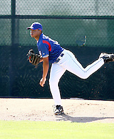 Edwin Escobar / Texas Rangers 2008 Instructional League..Photo by:  Bill Mitchell/Four Seam Images