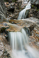At the Flume Cascade, White Mountains, New Hampshire