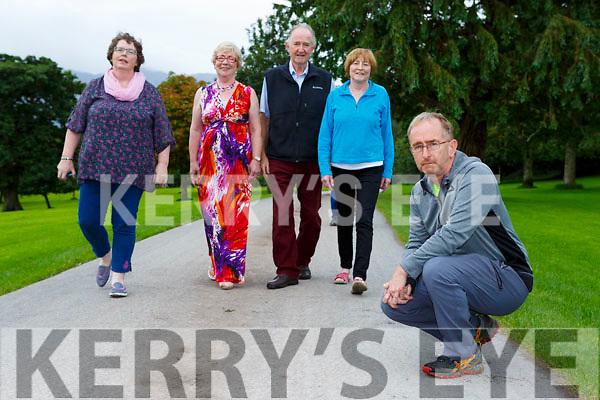 Tim O'Shea appealing for walkers for the Old Kenmare Road MS walk on October 8th with Pamela Walsh, Mary O'Connor, Pat O'Neill and Kathleen Sheehan at the launch in Killarney on Monday evening