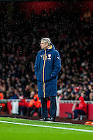 Arsene Wenger Manager of Arsenal looks on during the Barclays Premier League match between Arsenal and Swansea City at the Emirates Stadium, London, UK, Wednesday 02 March 2016