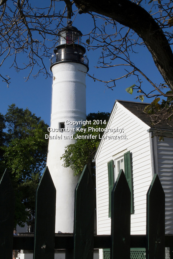 The Key West Lighthouse and its quarters stands across the street from Ernest Hemingway's home.